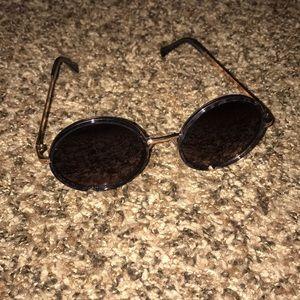 Tortoise & gold round sunglasses